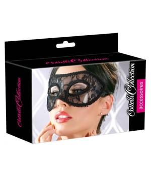 Elegante maschera rivestita in pizzo