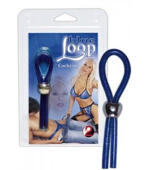 Anello per il pene regolabile Blue Loop (oggettistica)