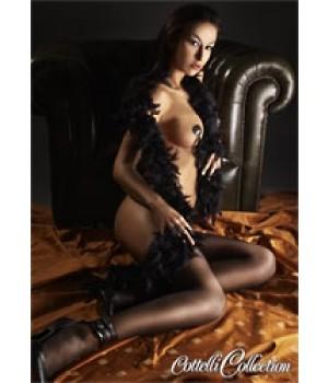 Splendido Boa con piume nero
