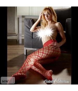 Sexy collant a rete rosse irresistibilmente desiderabili