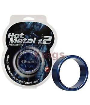 Anello per il pene in metallo Hot Metal Blu (oggettistica)