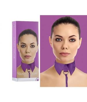 Elegante collare per giochi di dominazione viola (oggettistica)