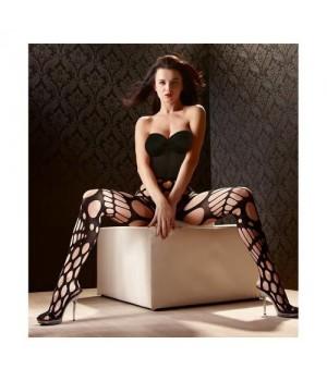 Collant a rete maglia larga nero irresistibilmente desiderabili