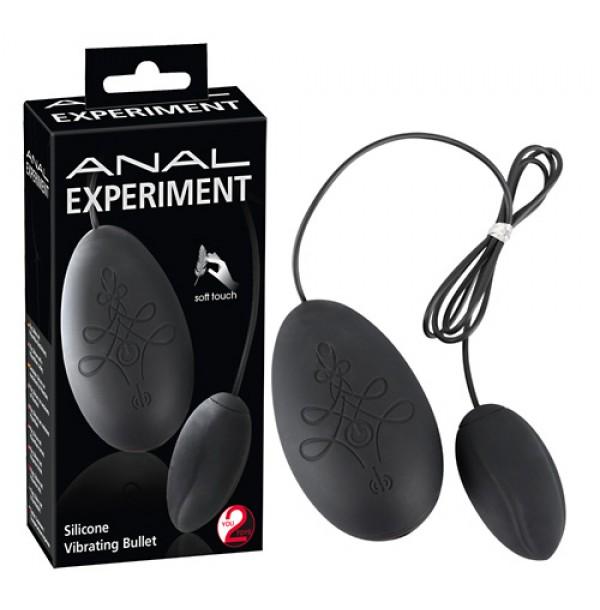 Ovetto anale vibrante in silicone Anal experiment (oggettistica)